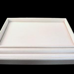 White Vinyl Sorting Gem Tray Display