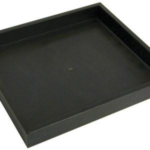 8.25 x 7.25 x 1in Black Plastic Half Jewelry Tray