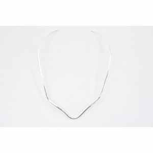 Scalloped V Mexican Silver Choker