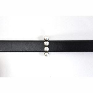 4-Bead Silvertone Slider Bead