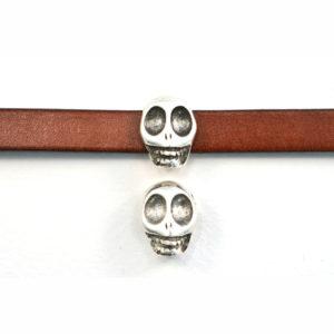 16 x 11mm Skull Slider Bead
