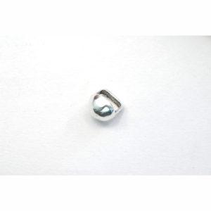 12mm Silvertone Round Studded Slider Bead