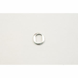 Thin Oval Silvertone Spacer Bead