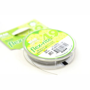 """.014"""" 49 Strand 100ft Clear Flex-rite Beading Wire"""
