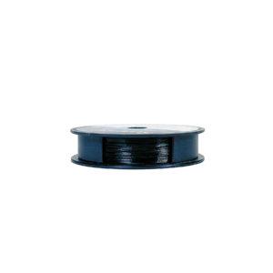 """.014"""" 30FT 21 Strand Black Stainless Steel Soft Flex"""
