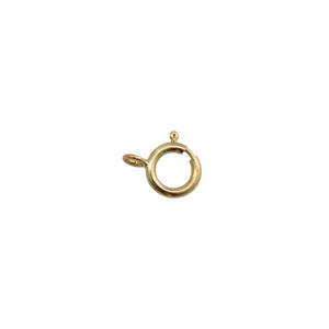 6mm 14k Yellow Gold Spring Ring Clasp