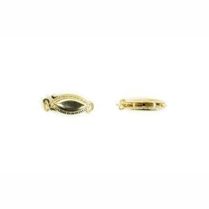 14k Yellow Gold Beveled Edge Marquise Locking Clasp