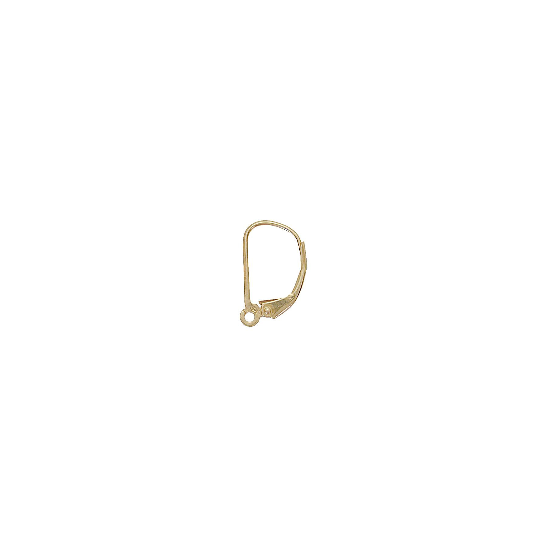 14k Gold Leverback Earring W Ring