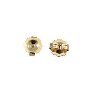 4.3x5.1mm 14k Gold Scalloped Ear Nut