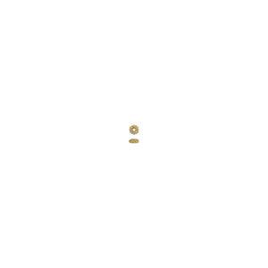 6x3mm Gold Vermeil Crown Spacer Bead