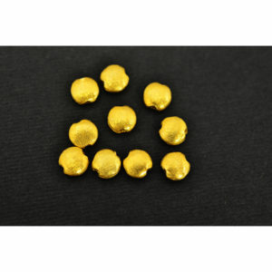 6x3mm Brushed Gold Vermeil Coin Bead