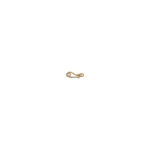 """5/8"""" Handmade Gold Vermeil Bali S-Hook Clasp"""