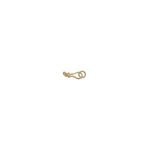 """1"""" 16ga Gold Vermeil Handmade S-Hook Clasp"""