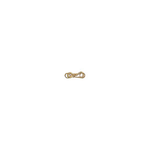 "7/8"" 14ga Gold Vermeil Collared S-Hook Clasp"