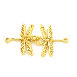 "1-1/2"" Gold Vermeil Dragonfly Hook & Eye Clasp"