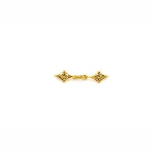 "1-1/2"" Gold Vermeil Open Diamond Hook & Eye Clasp"