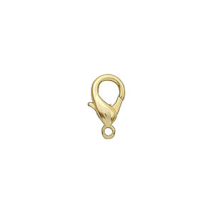 18mm Gold Plated Pear Lobster Claw Clasp