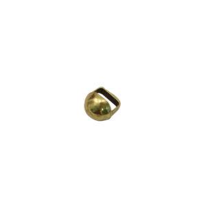 12mm Goldtone Round Stud Slider Bead