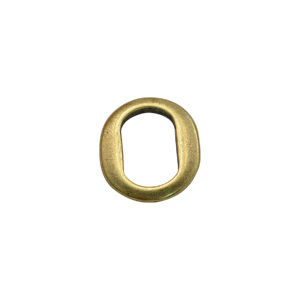 Thin Oval Goldtone Spacer Bead