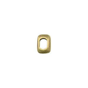 Thin Rectangual Oval Goldtone Spacer Bead
