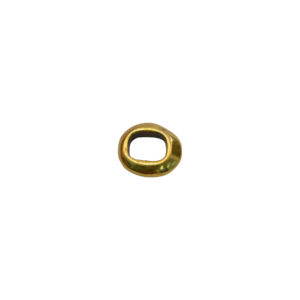 Oval Taper Goldtone Spacer Bead