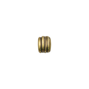 Coiled Oval Goldtone Spacer Bead