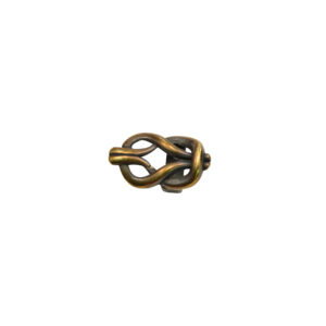 Knotted Oval Goldtone Spacer Bead