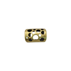 Holed Tube Oval Goldtone Spacer Bead