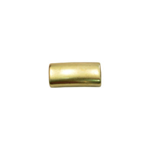 Long Tube Oval Goldtone Spacer Bead