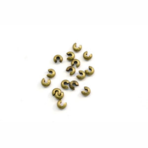 4mm Antiqued Brass Round Bead Crimp Cover