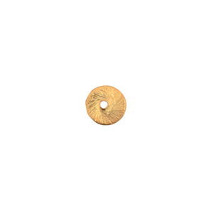 10mm Copper Textured Flat Round Bead