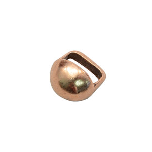 12mm Copper Half-Round Stud Slider Bead