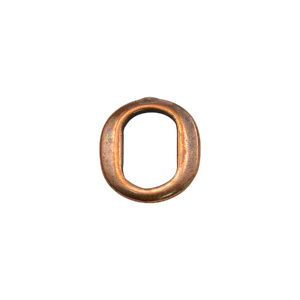 Thin Oval Copper Spacer Beads