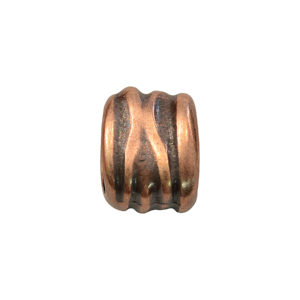 Textured Oval Copper Spacer Beads