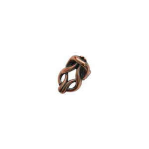 Knotted Oval Copper Spacer Beads