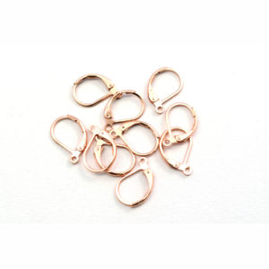 Loop Only Rose Gold Leverback Earring