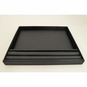 Black Velvet 1/2 Slotted 1/2 open Sorting Gem Tray Display