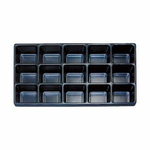 Black Plastic 15 Compartment Tray Divider