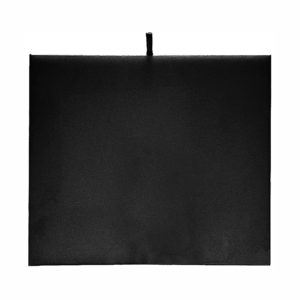 7-3/4 x 6-3/4in Black Velveteen Half-Tray Display Pad