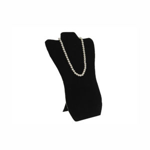 14x 8-1/2in Black Velveteen Contoured Necklace Easel