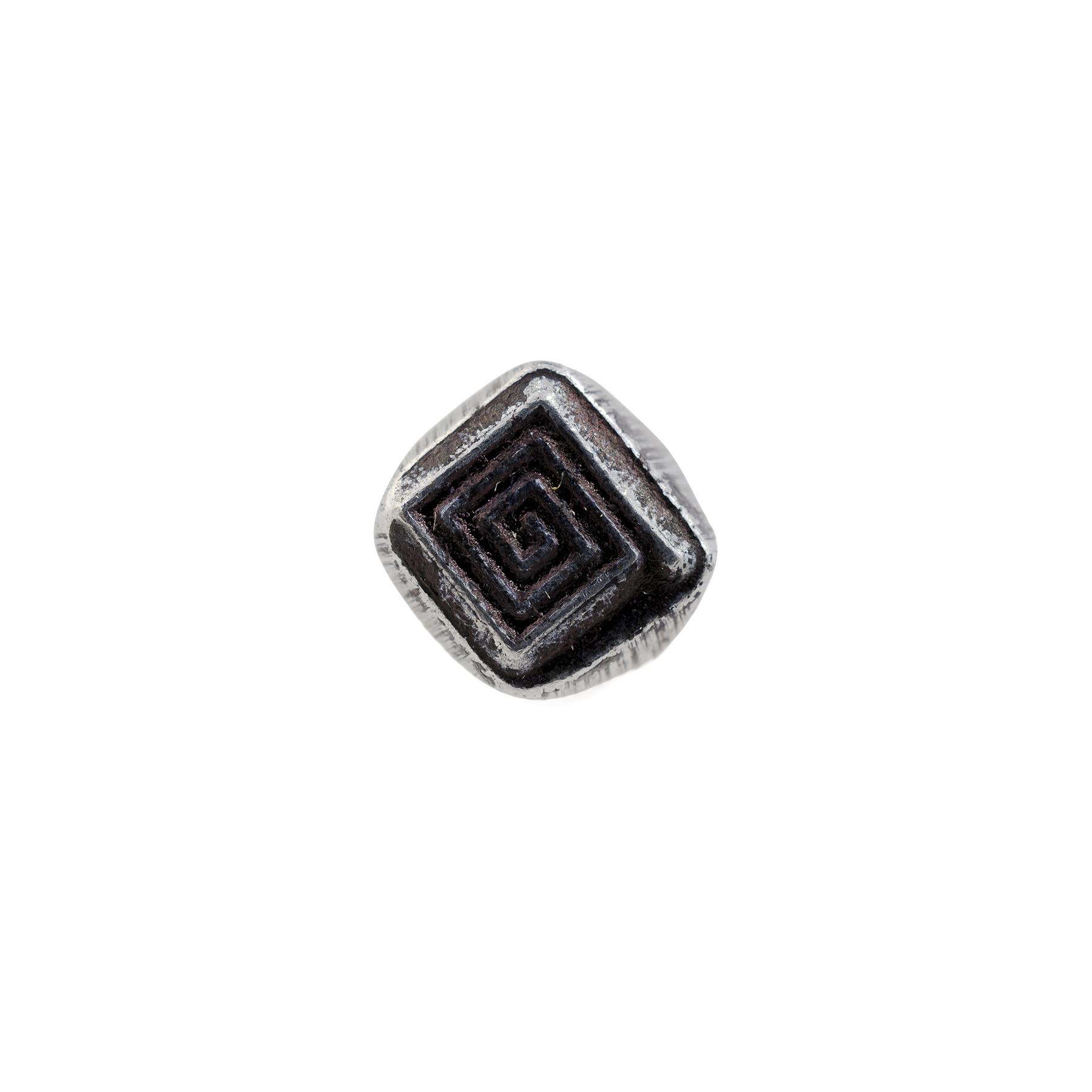 1 4 Square Spiral Geometric Stamp