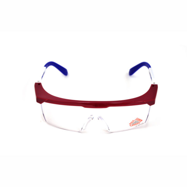 Clear Safety Glasses w/Red
