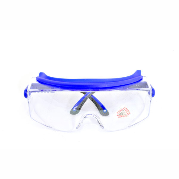 Clear Safety Glasses fits over prescription glasses