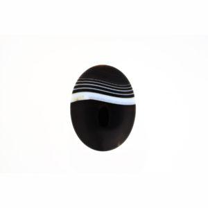 30x40mm Oval Black Stripe Agate Cabochon