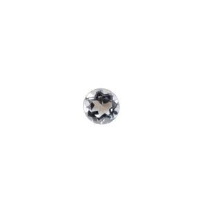 3mm Round Faceted Aquamarine