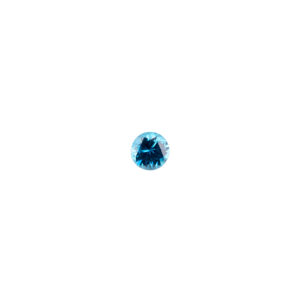3mm Round Faceted Swiss Blue Topaz Color Cubic Zirconia