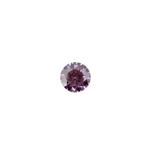 3mm Round Faceted Pink Tourmaline Color Cubic Zirconia