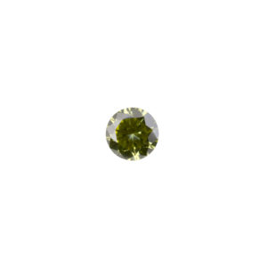 3mm Round Faceted Peridot Color Cubic Zirconia