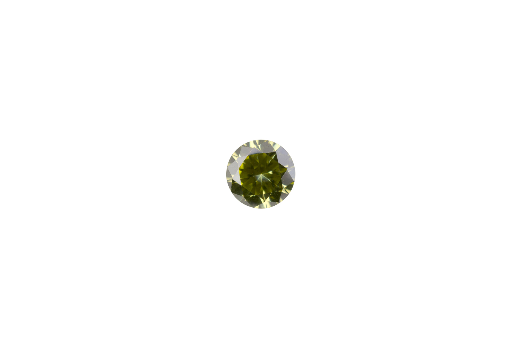 c35c6c1d8 3mm Round Faceted Peridot Color Cubic Zirconia - Santa Fe Jewelers ...