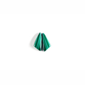 8x19mm Joining Wing Pair Malachite Cabochon